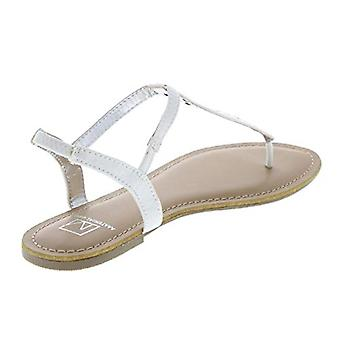 Material Girl Womens Skyler Embellished Faux Leather Thong Sandals