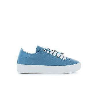 PINKO ALLEGRA LIGHT-BLUE LEATHER SNEAKER