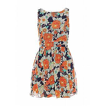 Waooh - mode - korte jurk bloemen en zip
