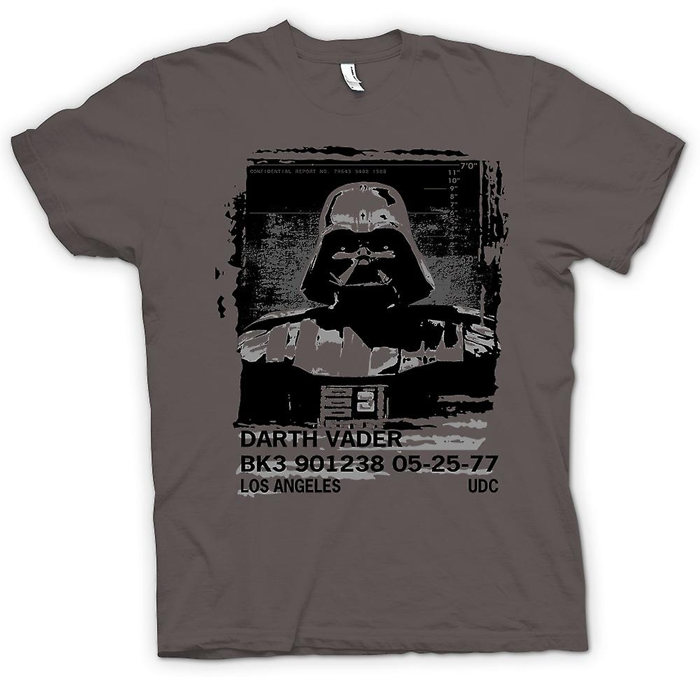 Herren T-Shirt - Darth Vader Verbrecherfoto - Star Wars