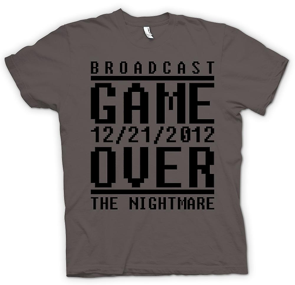 Mens t-shirt - Game Over incubo 2012 - Apocalisse fine giorni