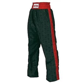 Top dieci bambini classico Kickboxing pantaloni nero/rosso