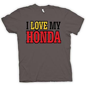 T-shirt Mens - eu amo meu Honda - entusiasta do carro