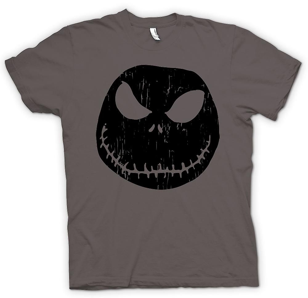 T-shirt - Scary Halloween Pumpkin - Smiley Face