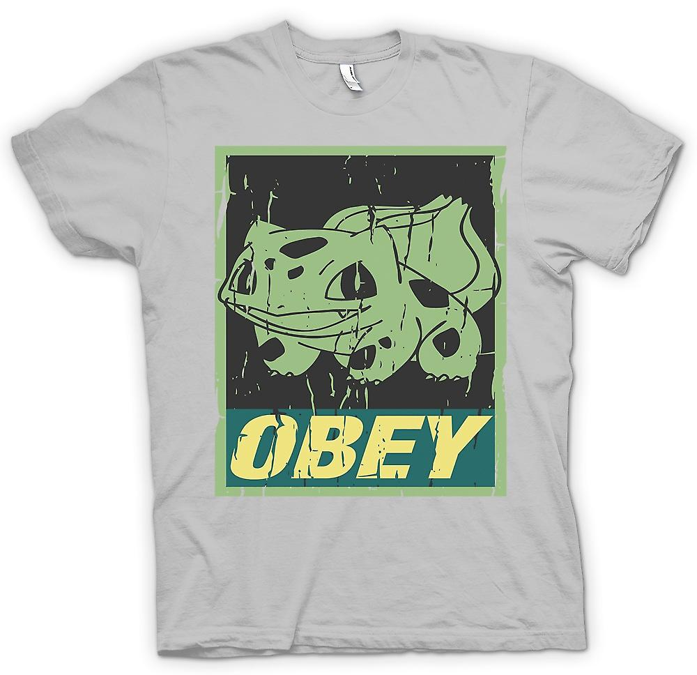 Mens T-shirt-Bulbizarre obéir - Cool Pokemon inspiré