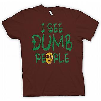 Mens-T-shirt - ich sehe dumme Menschen - Film inspiriert Funny
