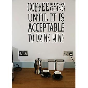 Kitchen Wall Decal Coffee Wine