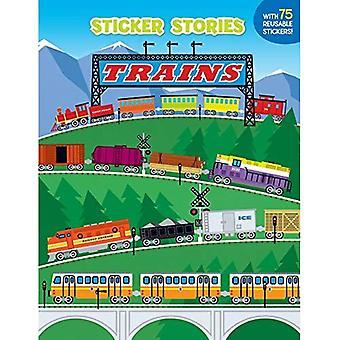 Trains (Sticker Stories Book)