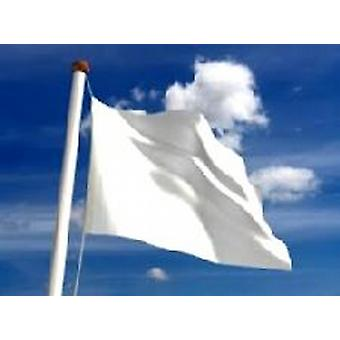 Plain White Flag 5ft x 3ft (100% Polyester) With Eyelets For Hanging