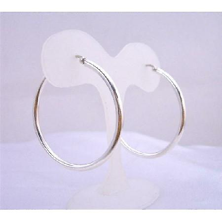 Sterling Silver Hoop Earrings Endless Wire Sterling Silver Earrings