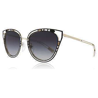 Bvlgari BV6104 2023/8G الأسود/الوردي/الذهب BV6104 القطط عيون عدسة النظارات الشمسية الفئة 3 حجم 54 مم