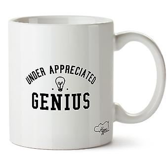Hippowarehouse onder Mer. Genius 283,5 Gram mok Cup, Céramique, Blanc, One Size (10oz)