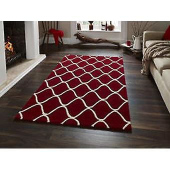 Éléments EL65 tapis rouge Rectangle tapis Plain/presque ordinaire