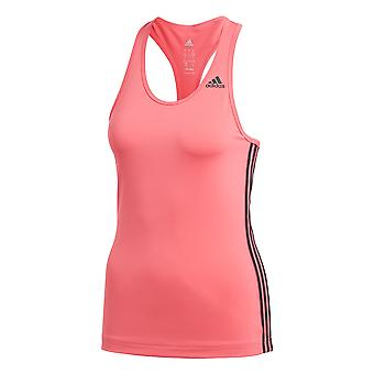 adidas D2M 3-Stripe Womens Ladies Fitness Running Vest Tank Pink