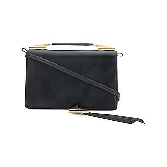 Stella Mccartney Flo Black Faux Leather Shoulder Bag