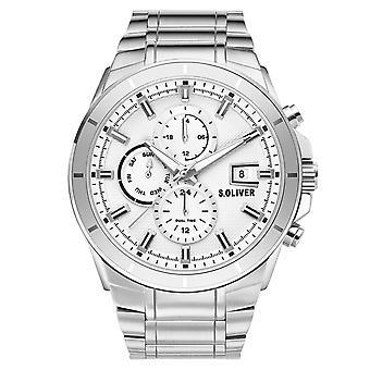 s.Oliver Herren Uhr Armbanduhr Edelstahl SO-3758-MM