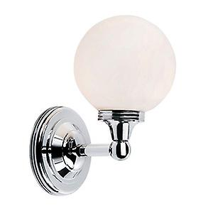 Elstead BATH/AUSTEN4 PC Austen Modern Bathroom Wall Light with a White Glass Sphere