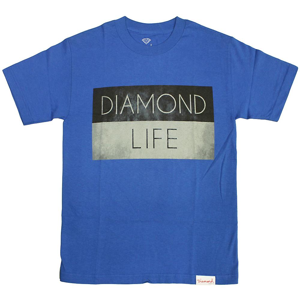 Diamond Supply Co Diamond Life Flag T-shirt Royal