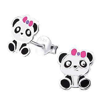 Children's Sterling Silver Panda Stud Earrings