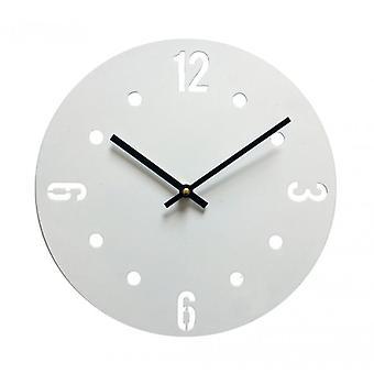 Möbler Rebecca titta moderna klockor modern metall vit 30x30x4
