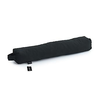 Essentials by Loft 25® Black Cotton Fabric Foam Crumb Filled Draught Excluder
