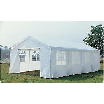 8M X 4M Garden Large Marquee Wedding/Party Tent Gazebo - White Showerproof Pe