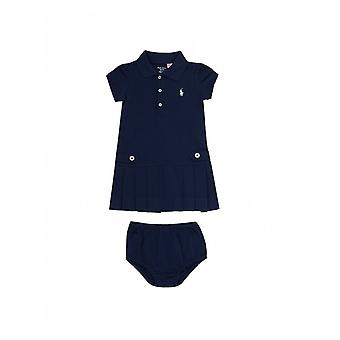 Polo Ralph Lauren Childrenswear Polo Ralph Lauren Nautical Pleated Dress With Buttons