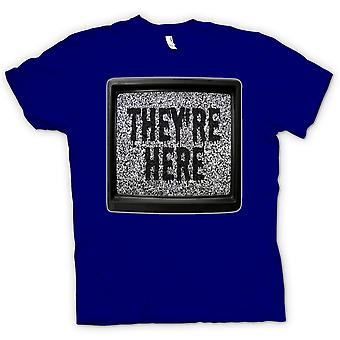 Mens T-shirt - They're Here - Horror Movie
