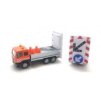 Marketing with arrow Board truck Orange