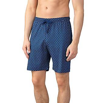 Mey men 21450-664 mænds lounge Neptune blå flise print bomuld pyjamas, kort