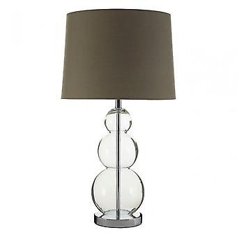 Premier Home Luke Grey tyg Shade/EU Plug bordslampa, metall, grå