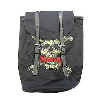 Pantera Backpack Heritage Bag Skull N Bones Band Logo new Official Black