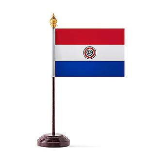 Paraguay Table Flag with Stick and Base