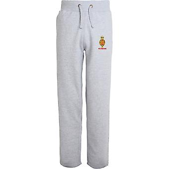 Royal Horse Guards Cypher Veteran - Licensed British Army Embroidered Open Hem Sweatpants / Jogging Bottoms