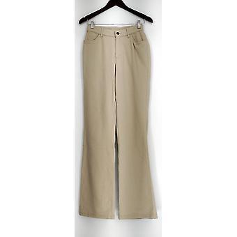 Denim & Co. Jeans 4T How Comfy Tall Boot Cut Leg w/ Pockets Beige A220824