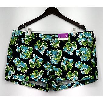 Merona shorts zip front casual shorts floral print groene Womens
