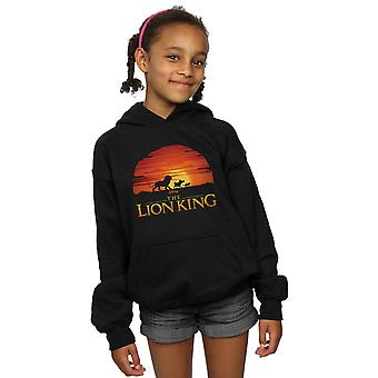 Disney Girls The Lion King Movie Sunset Logo Hoodie