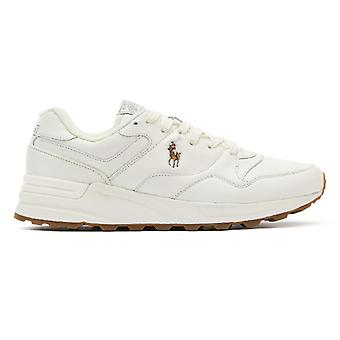 Ralph Lauren Trackstr 100 Mens White Leather Trainers