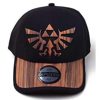 Zelda Baseball Cap Wooden Seamless Hyrule Logo new Official Nintendo Black