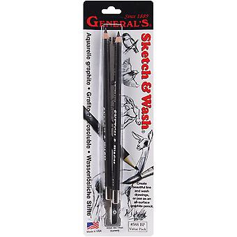 Sketch & Wash Pencils 2 Pkg Gp588bp