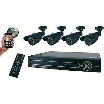 Video CCTV system Flamingo 4-kanals inkl 4 kameraer FA420DVR