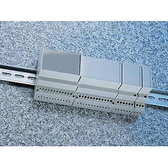 DIN rail casing 17.5 x 90 x 68 Acrylonitrile butadiene styrene Light grey (RAL 7035) Weltron MR1/C FA RAL7035 ABS 1 pc