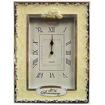 30th Anniversary Pearl Wedding Celebration Quartz Table Clock