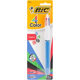 BIC 4-Color Retractable Ballpoint Pen 1/Pkg-Black, Blue, Red, & Green MMXP11C