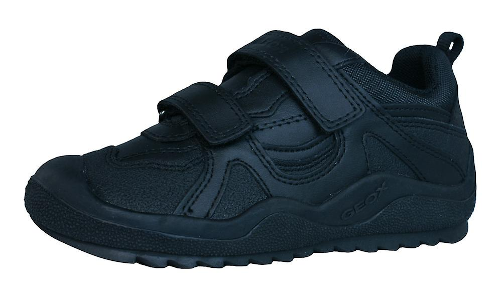 Geox J Trainers Attack A Boys Leather Trainers J / Shoes - Black 17bc51