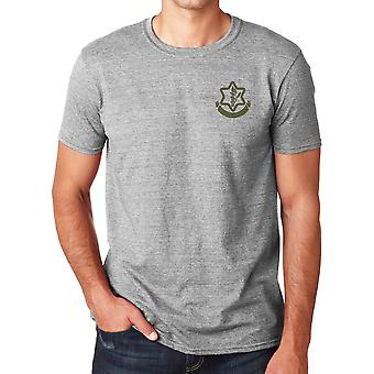 Isreali Defense Force IDF Stickerei Logo - Ringspun Baumwolle T Shirt