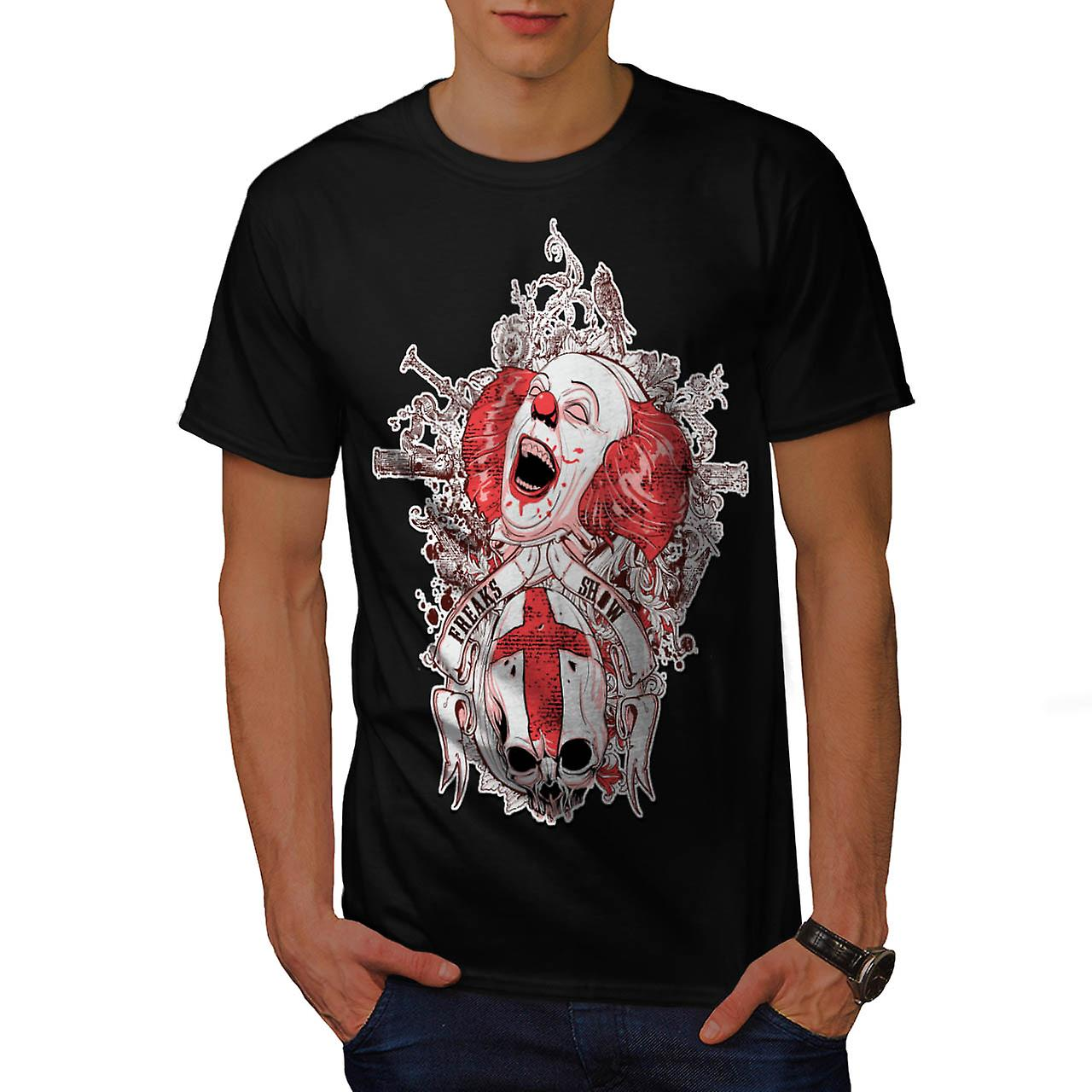 Dood Horror Clown kwaad Freak mannen zwart T-shirt | Wellcoda