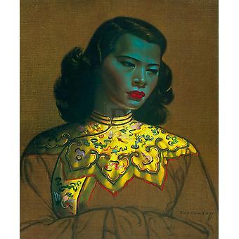 Chińska Dziewczyna Poster Print przez Vladimir Tretchikoff (24 x 30)