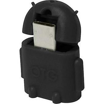 USB 2.0 Adapter [1x USB 2.0 connector Micro B - 1x USB 2.0 port A] Black