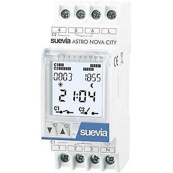DIN rail mount timer digital Suevia ASTRO LOG 230 Vac 16 A/250 V